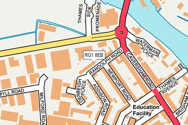 RG1 8EB map - OS OpenMap – Local (Ordnance Survey)