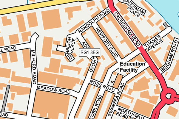RG1 8EG map - OS OpenMap – Local (Ordnance Survey)