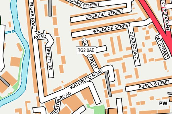 RG2 0AE map - OS OpenMap – Local (Ordnance Survey)