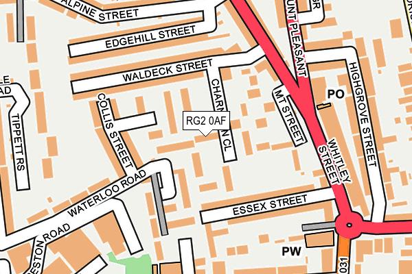 RG2 0AF map - OS OpenMap – Local (Ordnance Survey)