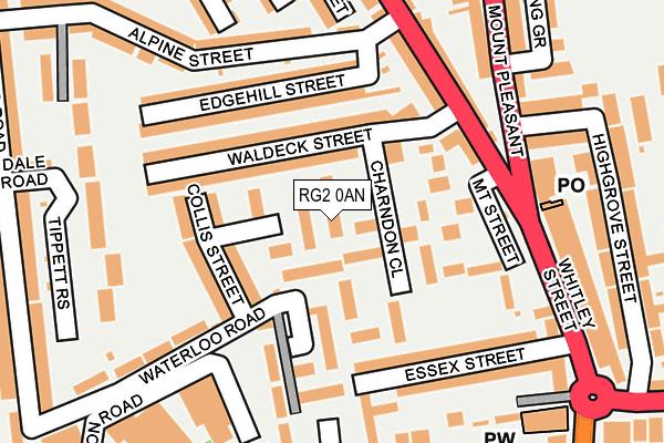 RG2 0AN map - OS OpenMap – Local (Ordnance Survey)