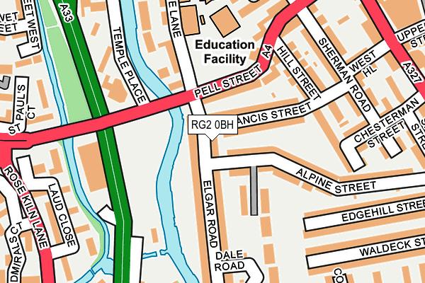 RG2 0BH map - OS OpenMap – Local (Ordnance Survey)