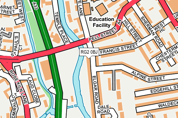 RG2 0BJ map - OS OpenMap – Local (Ordnance Survey)