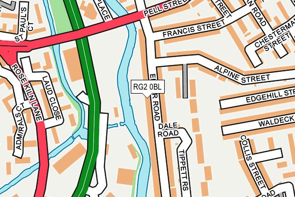 RG2 0BL map - OS OpenMap – Local (Ordnance Survey)