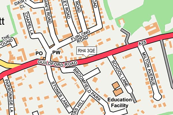 RH4 3QE map - OS OpenMap – Local (Ordnance Survey)