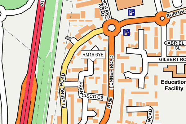 RM16 6YE maps, stats, and open data Cl Map Cisco on