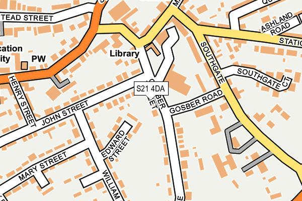S21 4DA map - OS OpenMap – Local (Ordnance Survey)