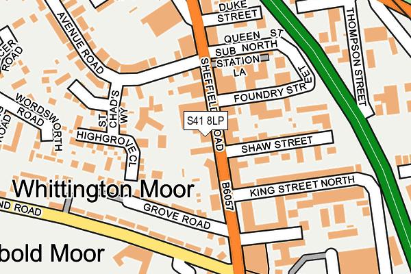 S41 8LP map - OS OpenMap – Local (Ordnance Survey)