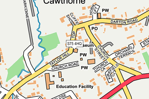 S75 4HQ maps, stats, and open data Darton College Map on