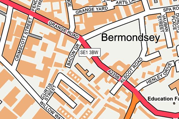 SE1 3BW map - OS OpenMap – Local (Ordnance Survey)