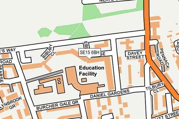 SE15 6BH map - OS OpenMap – Local (Ordnance Survey)