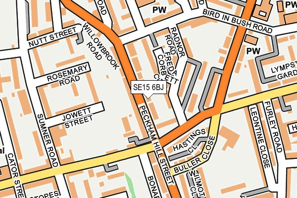 SE15 6BJ map - OS OpenMap – Local (Ordnance Survey)