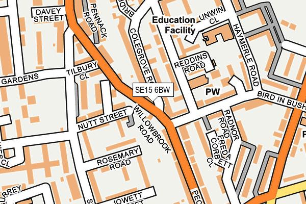 SE15 6BW map - OS OpenMap – Local (Ordnance Survey)