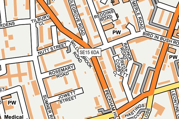 SE15 6DA map - OS OpenMap – Local (Ordnance Survey)