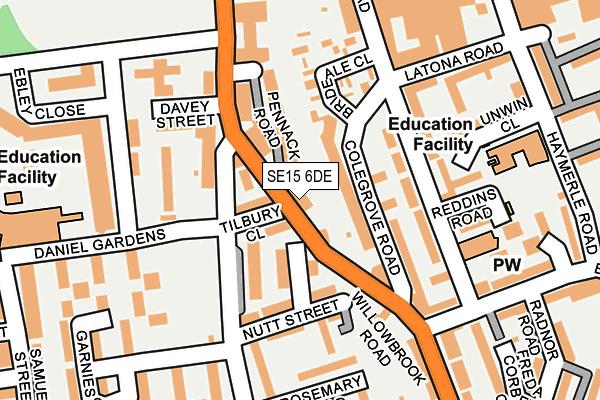 SE15 6DE map - OS OpenMap – Local (Ordnance Survey)