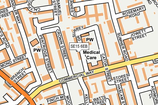 SE15 6EB map - OS OpenMap – Local (Ordnance Survey)