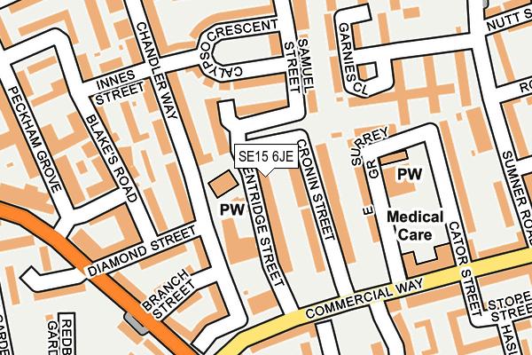 SE15 6JE map - OS OpenMap – Local (Ordnance Survey)
