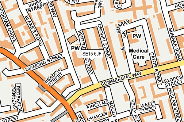 SE15 6JF map - OS OpenMap – Local (Ordnance Survey)