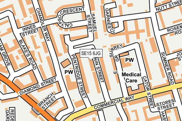 SE15 6JG map - OS OpenMap – Local (Ordnance Survey)