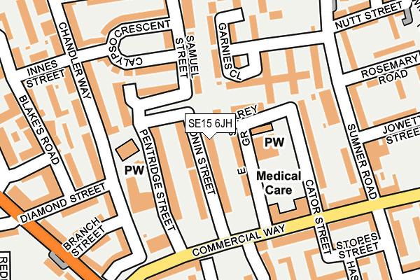 SE15 6JH map - OS OpenMap – Local (Ordnance Survey)