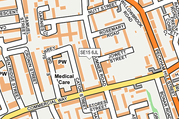Map of AGBARA CLOSE PROTECTION LTD at local scale