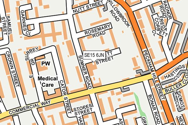 SE15 6JN map - OS OpenMap – Local (Ordnance Survey)