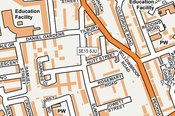 SE15 6JU map - OS OpenMap – Local (Ordnance Survey)