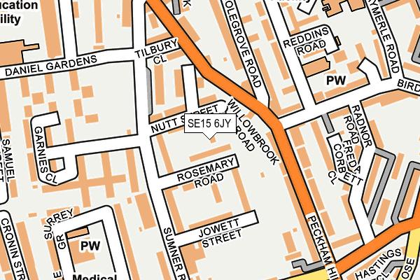 SE15 6JY map - OS OpenMap – Local (Ordnance Survey)