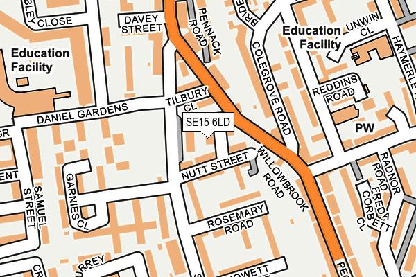SE15 6LD map - OS OpenMap – Local (Ordnance Survey)