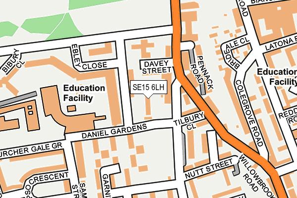 SE15 6LH map - OS OpenMap – Local (Ordnance Survey)