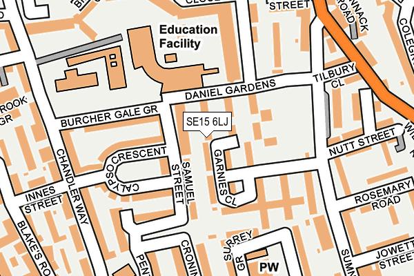 SE15 6LJ map - OS OpenMap – Local (Ordnance Survey)
