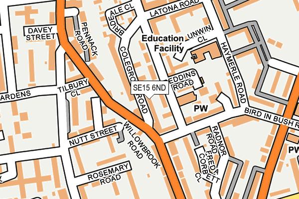 SE15 6ND map - OS OpenMap – Local (Ordnance Survey)