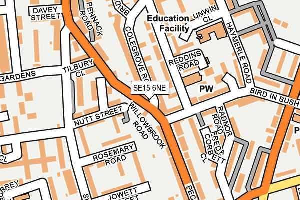 SE15 6NE map - OS OpenMap – Local (Ordnance Survey)
