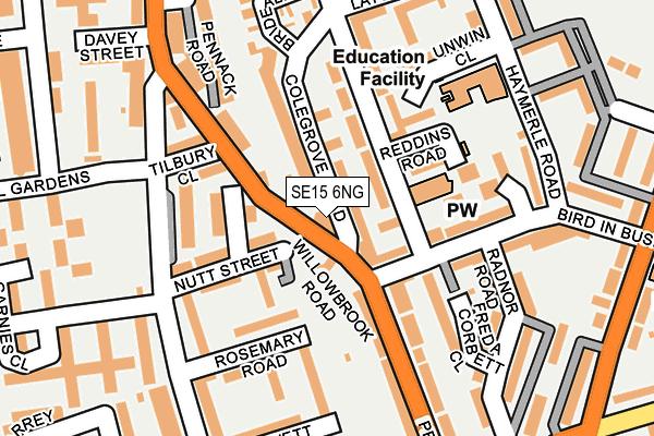 SE15 6NG map - OS OpenMap – Local (Ordnance Survey)