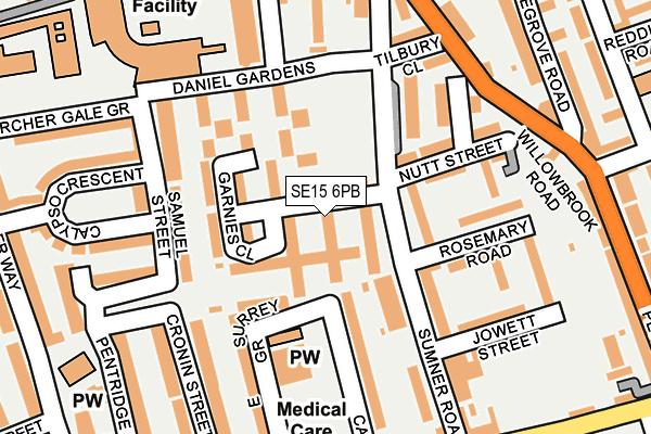 SE15 6PB map - OS OpenMap – Local (Ordnance Survey)