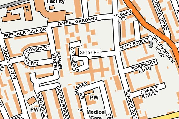 SE15 6PE map - OS OpenMap – Local (Ordnance Survey)