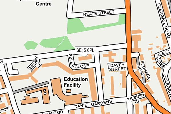 SE15 6PL map - OS OpenMap – Local (Ordnance Survey)