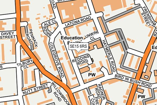 SE15 6RS map - OS OpenMap – Local (Ordnance Survey)
