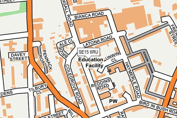 SE15 6RU map - OS OpenMap – Local (Ordnance Survey)