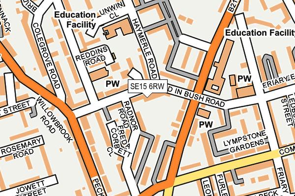SE15 6RW map - OS OpenMap – Local (Ordnance Survey)