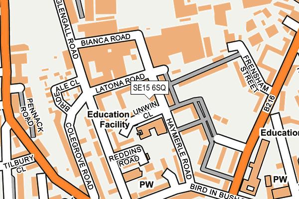SE15 6SQ map - OS OpenMap – Local (Ordnance Survey)
