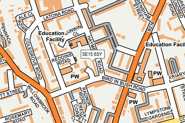 SE15 6SY map - OS OpenMap – Local (Ordnance Survey)