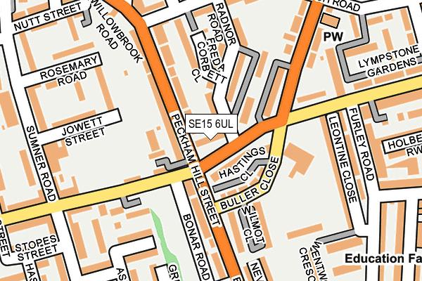 SE15 6UL map - OS OpenMap – Local (Ordnance Survey)
