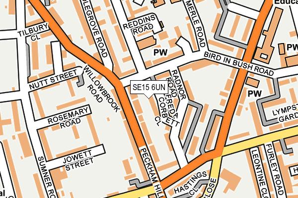 SE15 6UN map - OS OpenMap – Local (Ordnance Survey)