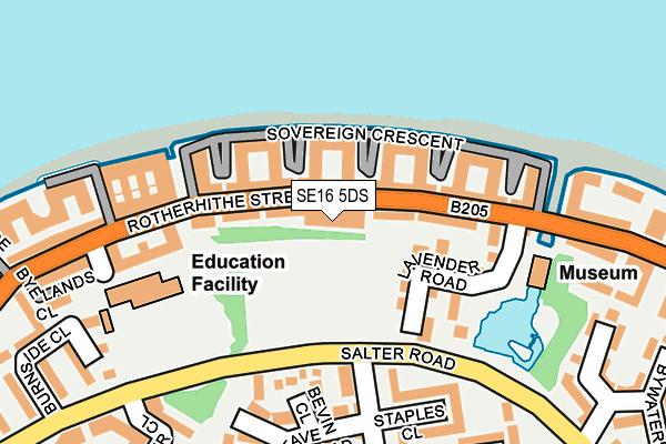 SE16 5DS map - OS OpenMap – Local (Ordnance Survey)