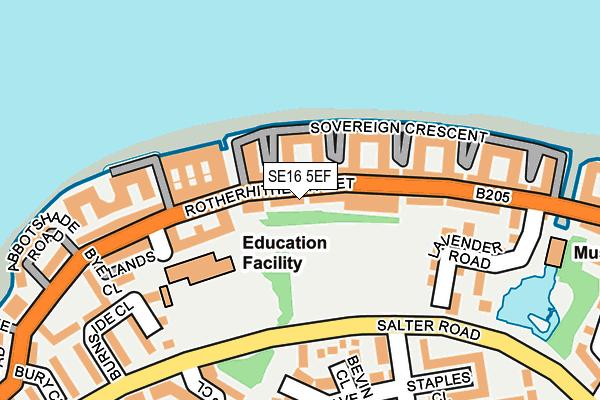SE16 5EF map - OS OpenMap – Local (Ordnance Survey)