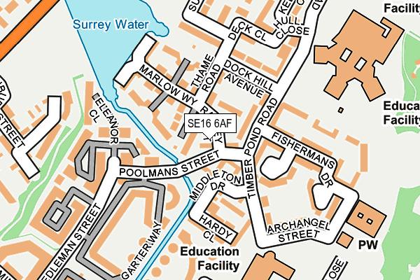 SE16 6AF map - OS OpenMap – Local (Ordnance Survey)