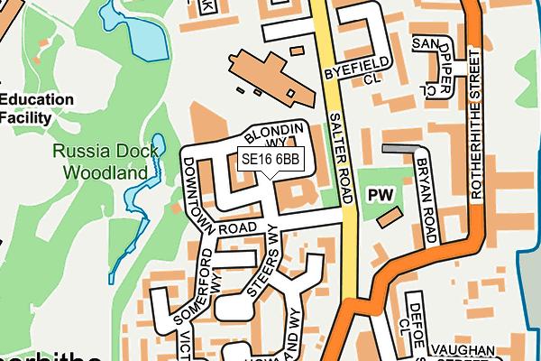 SE16 6BB map - OS OpenMap – Local (Ordnance Survey)