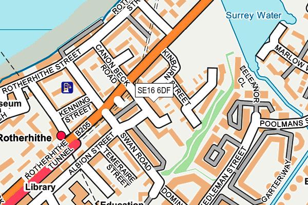 SE16 6DF map - OS OpenMap – Local (Ordnance Survey)