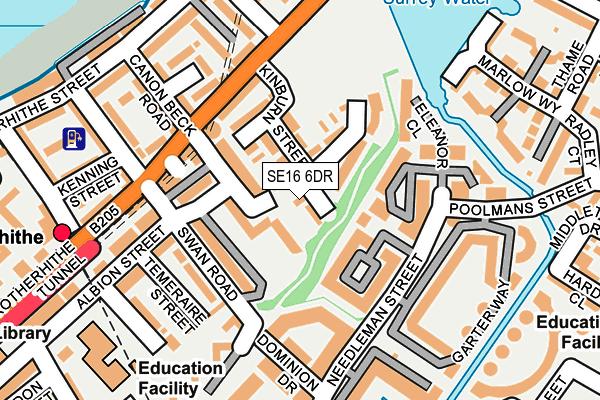 SE16 6DR map - OS OpenMap – Local (Ordnance Survey)